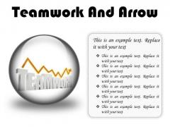 Teamwork And Arrow Success PowerPoint Presentation Slides C