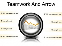 Teamwork And Arrow Success PowerPoint Presentation Slides Cc