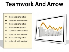 Teamwork And Arrow Success PowerPoint Presentation Slides F