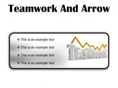Teamwork And Arrow Success PowerPoint Presentation Slides R