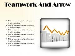 Teamwork And Arrow Success PowerPoint Presentation Slides S