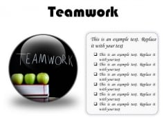 Teamwork Business PowerPoint Presentation Slides C