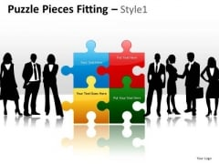 Teamwork Puzzle Pieces PowerPoint Slides Ppt Template Graphics