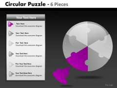 Technology Circular Puzzle 6 Pieces PowerPoint Slides And Ppt Diagram Templates