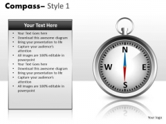 Technology Compass 1 PowerPoint Slides And Ppt Diagram Templates