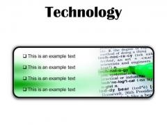 Technology Industrial PowerPoint Presentation Slides R