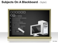 Technology Subjects On A Blackboard 1 PowerPoint Slides And Ppt Diagram Templates