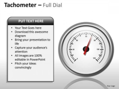 Technology Tachometer Full Dial PowerPoint Slides And Ppt Diagram Templates