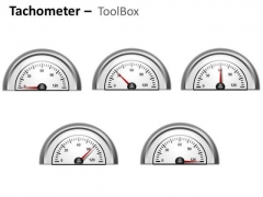Technology Tachometer Half Dial PowerPoint Slides And Ppt Diagram Templates