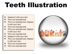 Teeth Illustration Dental PowerPoint Presentation Slides C