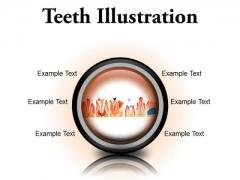 Teeth Illustration Dental PowerPoint Presentation Slides Cc