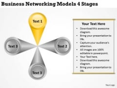 Templates Download Networking Models 4 Stages Business Cards PowerPoint Slides