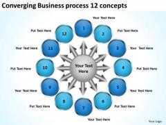 Templates Download Process 12 Concepts Ppt Circular Flow Layout Diagram PowerPoint Slides