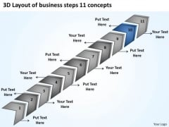 Templates Download Steps 11 Concepts Starting Business Plan PowerPoint