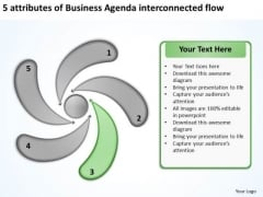 Templates Free Download Agenda Interconnected Flow Business Plan Creator PowerPoint Slides