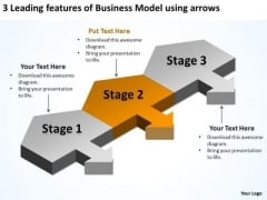 Templates Free Download Model Using Arrows Retail Business Plan PowerPoint Slides