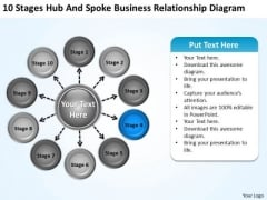 Templates Free Download Relationship Diagram Business Plan Summary PowerPoint Slides