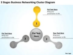 Templates Networking Cluster Diagram Example Of Small Business Plan PowerPoint