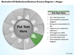 Templates Process Diagram 10 Stages Business Plan PowerPoint