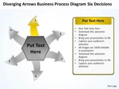 Templates Process Diagram Six Decisions Ppt Arrow Software PowerPoint