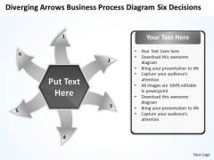 Templates Process Diagram Six Decisions Ppt Arrows Software PowerPoint
