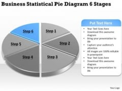 Templates Statistical Pie Diagram 6 Stages Ppt Steps To Making Business Plan PowerPoint Slides