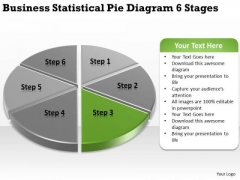 Templates Statistical Pie Diagram 6 Stages Show Me Business Plan PowerPoint