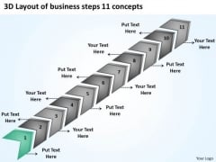 Templates Steps 11 Concepts Ppt Business Plans For Small PowerPoint