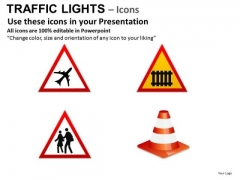 Terminal Ticket Traffic Light PowerPoint Slides And Ppt Diagram Templates