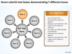 Text Boxes Demonstrating 7 Different Issues Ppt Circular Diagram PowerPoint Templates