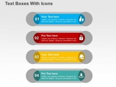 Text Boxes With Icons PowerPoint Templates