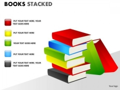 Textbook Books Stacked PowerPoint Slides And Ppt Diagram Templates
