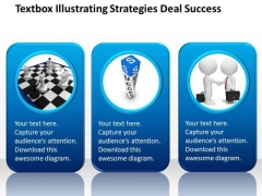 Textbox Illustrating Strategies Deal Success Chiropractic Business Plan PowerPoint Templates