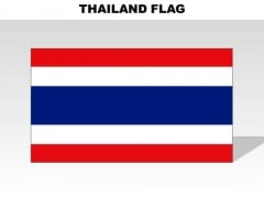Thailand Country PowerPoint Flags