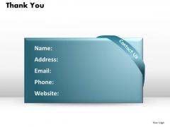 Thank You Details Ppt Slides Presentation Diagrams Templates