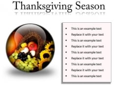 Thanksgiving Season Festival PowerPoint Presentation Slides C