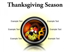 Thanksgiving Season Festival PowerPoint Presentation Slides Cc