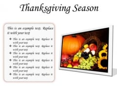 Thanksgiving Season Festival PowerPoint Presentation Slides F