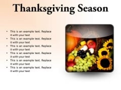 Thanksgiving Season Festival PowerPoint Presentation Slides S