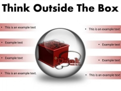 Think Outside The Box Business PowerPoint Presentation Slides C