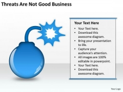 Threats Are Not Good Business Ppt Starting PowerPoint Templates