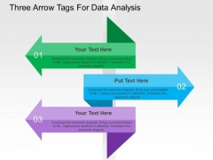Three Arrow Tags For Data Analysis PowerPoint Template