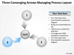 Three Converging Arrow Managing Process Layout Cycle PowerPoint Templates