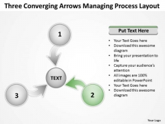 Three Converging Arrows Managing Process Layout Cycle PowerPoint Template