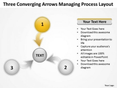 Three Converging Arrows Managing Process Layout Ppt Cycle PowerPoint Templates