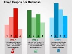 Three Graphs For Business PowerPoint Template