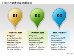 Three Numbered Balloons PowerPoint Presentation Template