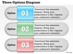 Three Options Diagram PowerPoint Presentation Template