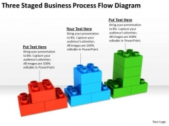 Three Staged Business Process Flow Diagram Ppt Small Plans PowerPoint Templates