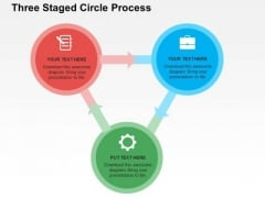 Three Staged Circle Process PowerPoint Template